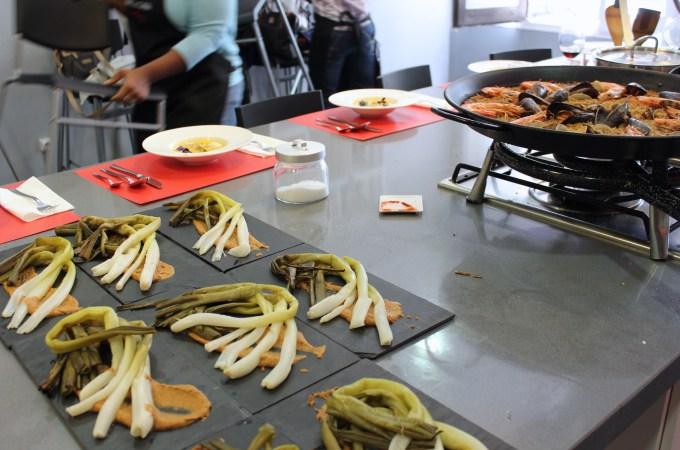 Calcots with romesco