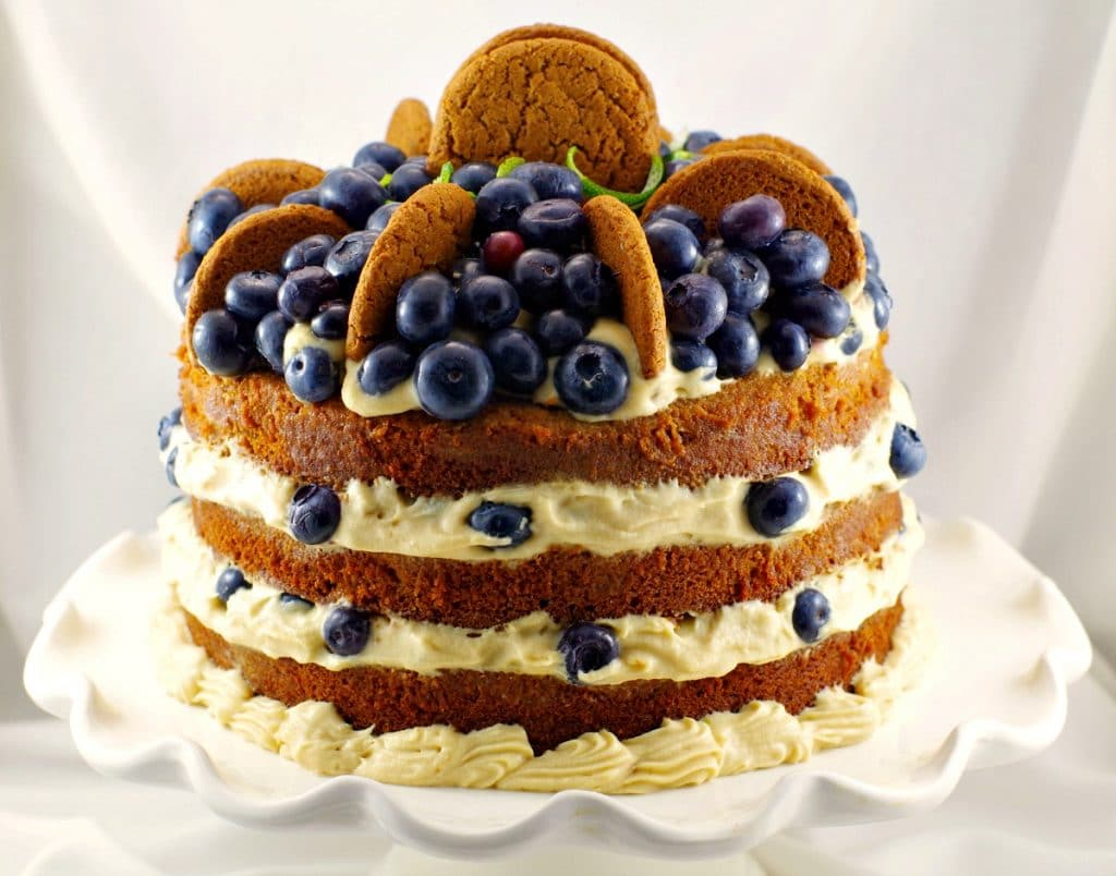 Sweet Fashioned Gingerbread Cake Blueberry Cookie Butter Filling Fashioned Gingebread Cake Butter Filling Food Meanderings Cookie Butter Cake Chels Cookie Butter Cake A Mug nice food Cookie Butter Cake