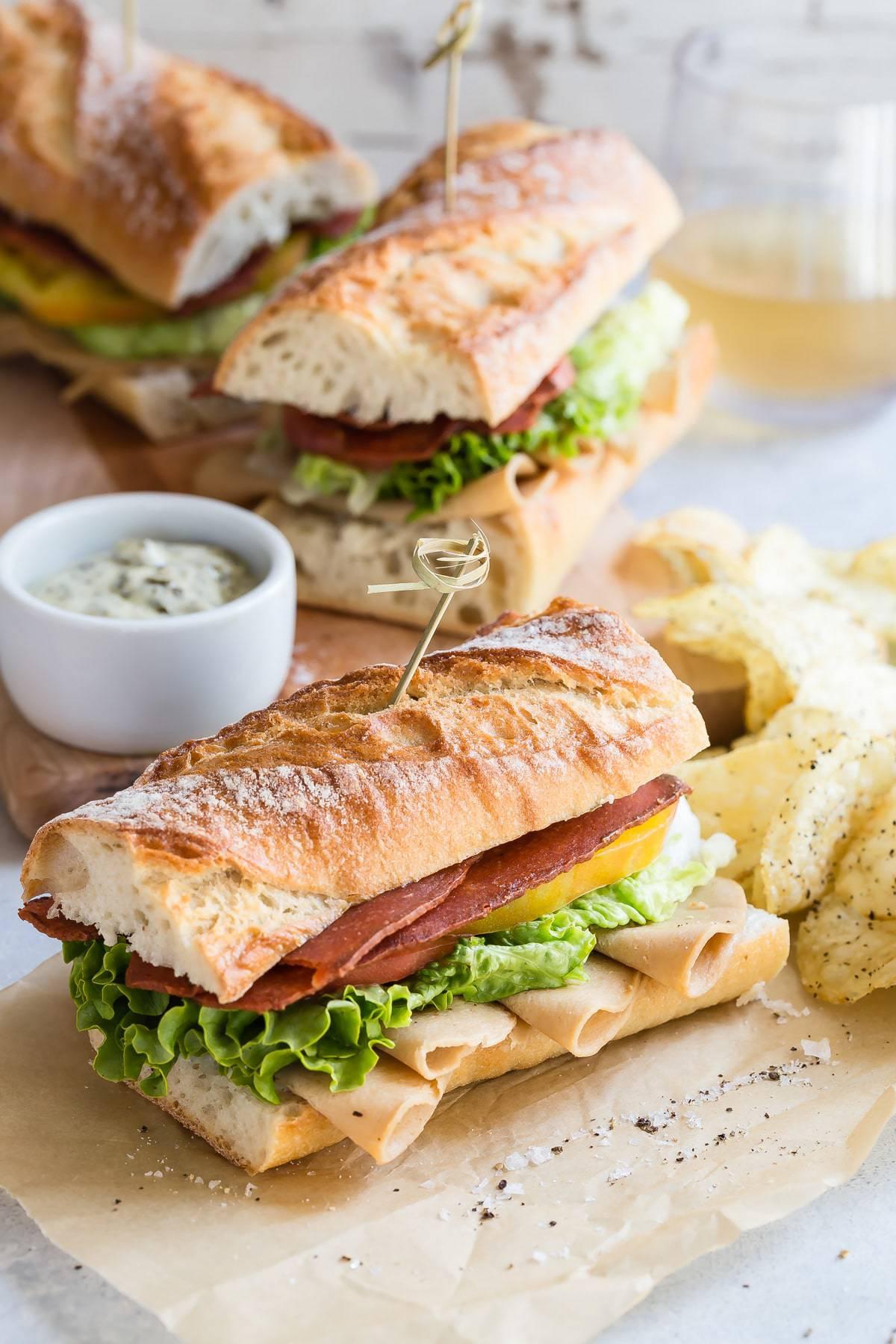 Fullsize Of Turkey Club Sandwich