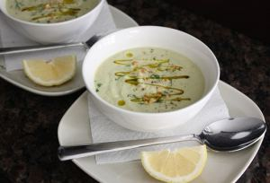 Zucchini and Avocado Cold (or Warm) Soup