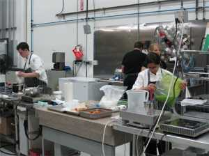A peek inside The Modernist Cuisine kitchen lab. This is just a small portion of it.