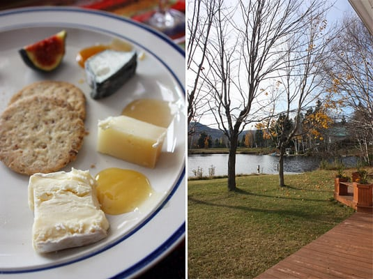 Cheeses and honey; a late afternoon at the cottage in St-Frrol-les-Neiges