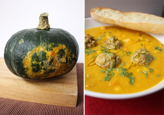 Beautiful buttercup squash equals beautiful squash soup.