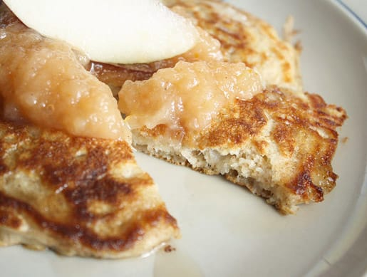 Apple and Cheddat Whole Wheat Pancakes