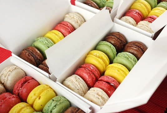 Macarons, 5 ways: chocolate, pistachio, lemon, raspberry &amp; cranberry, maple &amp; pecan