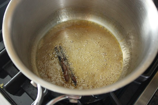 Making caramel: time to take it off the heat