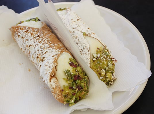 The best cannolo I ever had at Prestipino Caf, Catania, Sicily