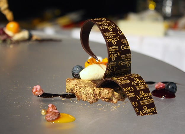 One of Pastry Chef Sébastien Camus' desserts, up close.