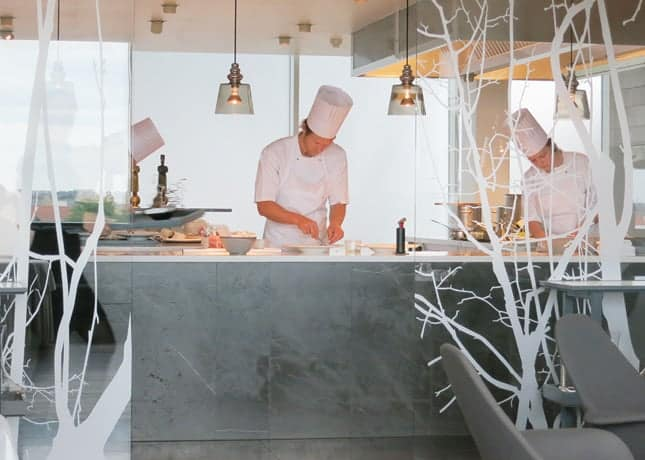 Chef Rasmus Kofoed at the helm of his kitchen, Geranium Restaurant, Copenhagen / FoodNouveau.com