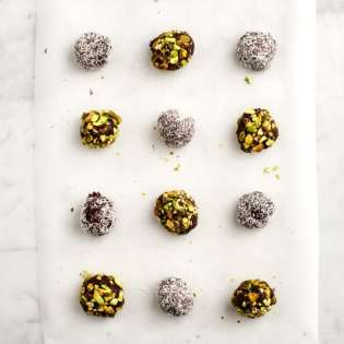 Pistachio Coconut Truffles, by Jeanine at Love &amp; Lemons // FoodNouveau.com