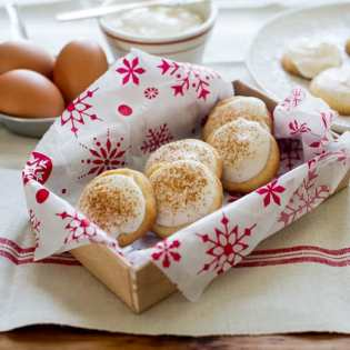 Butter Cookies w/ Eggnogg Cream Cheese Icing, by Todd and Diane at White on Rice Couple // FoodNouveau.com
