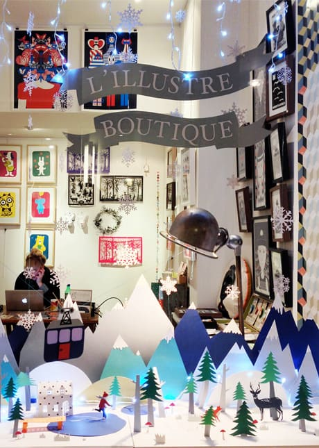 L'Illustre Boutique, a paper shop that sells original prints, reproductions and products embellished with the illustrations of young contemporary artists. In Le Passage du Grand Cerf, Paris. // FoodNouveau.com