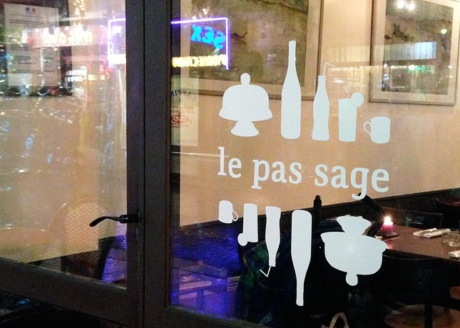 Café Le Pas Sage, a hip and chic wine bar in Le Passage du Grand Cerf, Paris // FoodNouveau.com