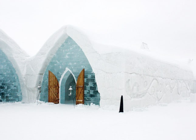 Ice Hotel, Quebec City: Exterior // FoodNouveau.com