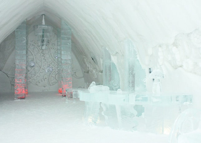 Ice Hotel, Quebec City: The Reception // FoodNouveau.com