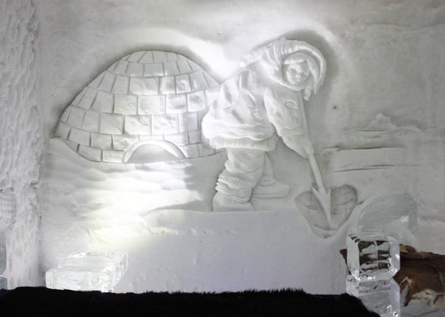 Ice Hotel, Quebec City: Carving Detail // FoodNouveau.com