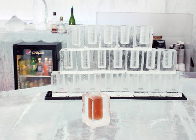 Ice Hotel, Quebec City: Cocktail served in an ice glass // FoodNouveau.com