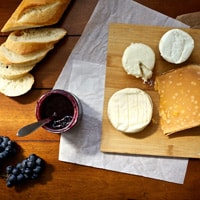 A local cheese plate, Albane and Evi's favorite dish in New York City // FoodNouveau.com