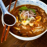 Assam Laksa, Billy Law's favorite dish in Penang, Malaysia // FoodNouveau.com