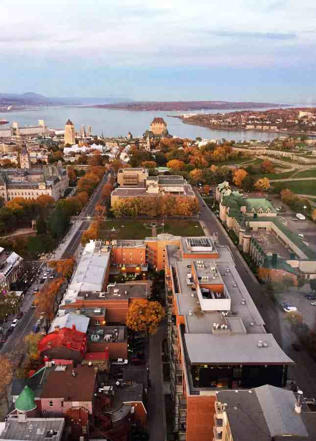 Part of the breathtaking 360° view from Ciel! Bistro-Bar, one of the Most Romantic Restaurants in Quebec City // FoodNouveau.com
