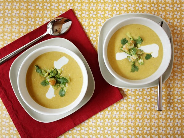 Summer Corn Soup with Shrimp // FoodNouveau.com
