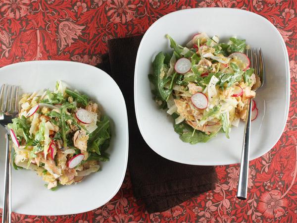 Red Lentil, Salmon, and Fennel Salad // FoodNouveau.com