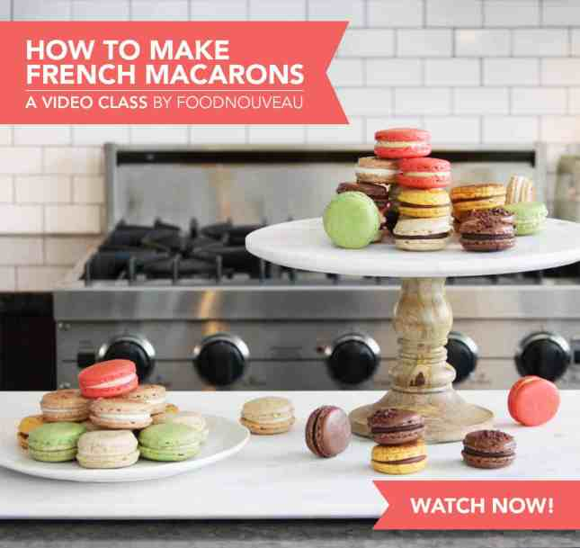 How to Make French Macarons: A Skillshare Video Class by FoodNouveau.com