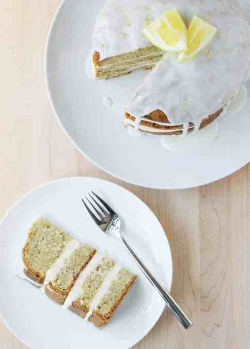 A Spectacular Lemony Zucchini Cake (and a Giveaway of a Delightful Baking Book: Layered!)
