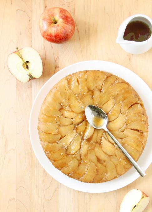 Tatin Cake (a.k.a. Upside-Down Apple Cake with Maple Caramel Sauce)–and a Saveur Awards Nomination (!!)