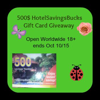 $500 HotelSavingsBucks Gift Card Giveaway!
