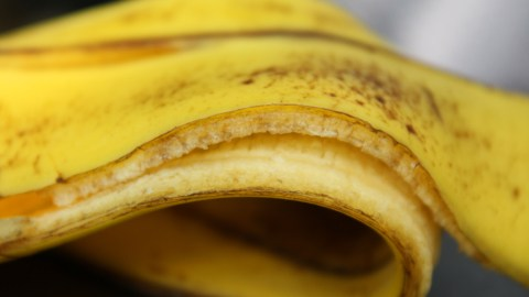 This banana peel can replace your multivitamin. Best of all, it comes with your banana! (Photo: claireknights/Flickr.)