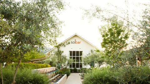 At Solage Calistoga's restaurant, Solbar, chef Brandon Sharp playfully divides his menu into two sections: healthy and hearty. (Photo courtesy of Solage Calistoga.)