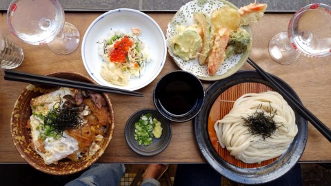 Handmade udon heaven can be found at this bistro in Paris.