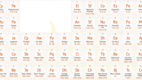 Chili Pepper Periodic Table
