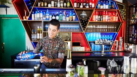 Alex Negranza Houston drinking