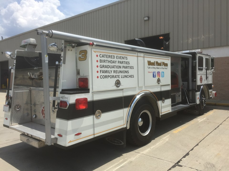 Food Truck For Lease Fire Engine Food Truck Rear - Food Trucks For Sale | Used Food Trucks