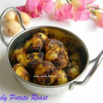 Baby Potato Roast / Urulaikilangu Varuval – Side Dish for Sambar Rice