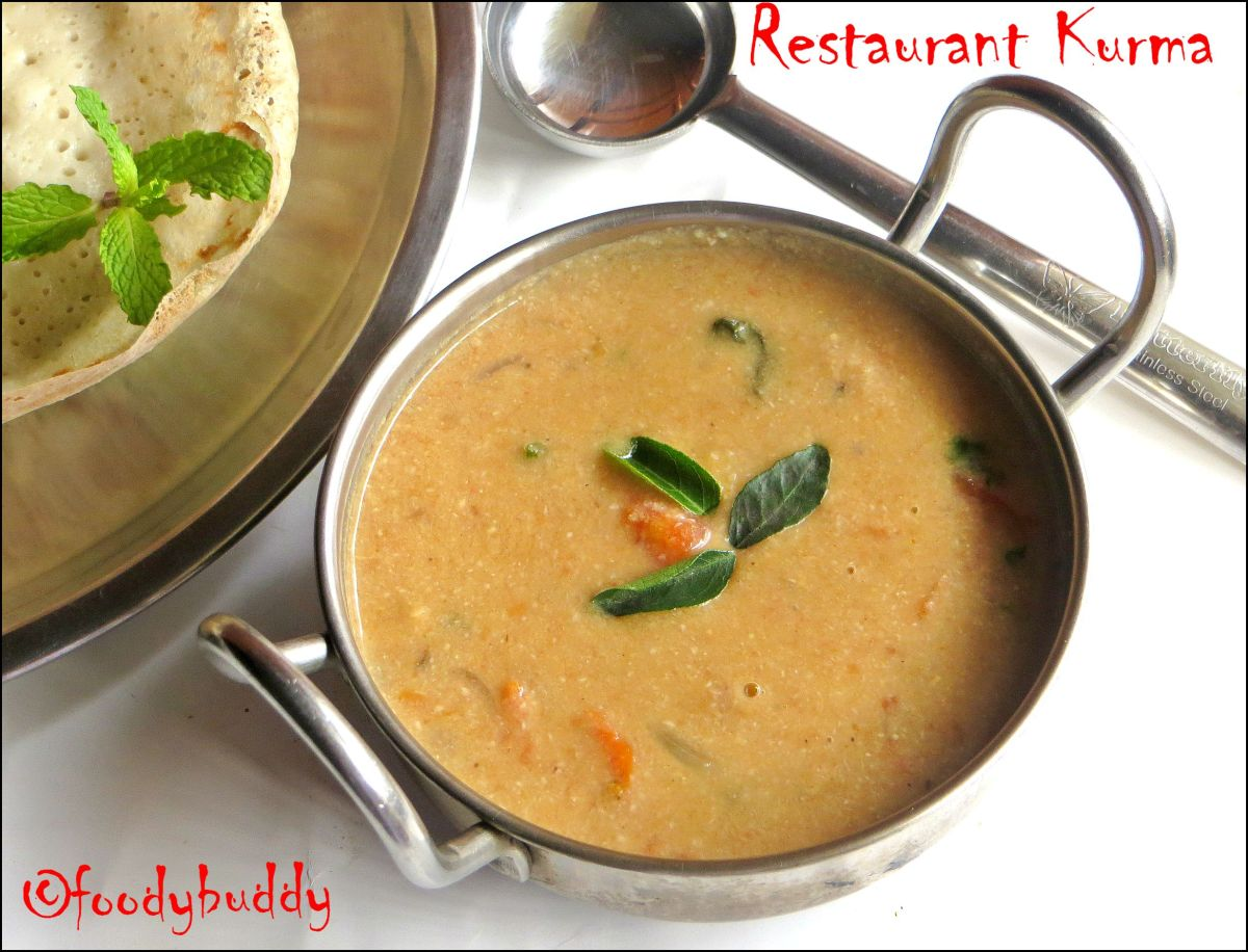 Restaurant Style Kurma / Kurma Recipe Without Vegetables