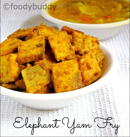 elephant yam stir fry recipe