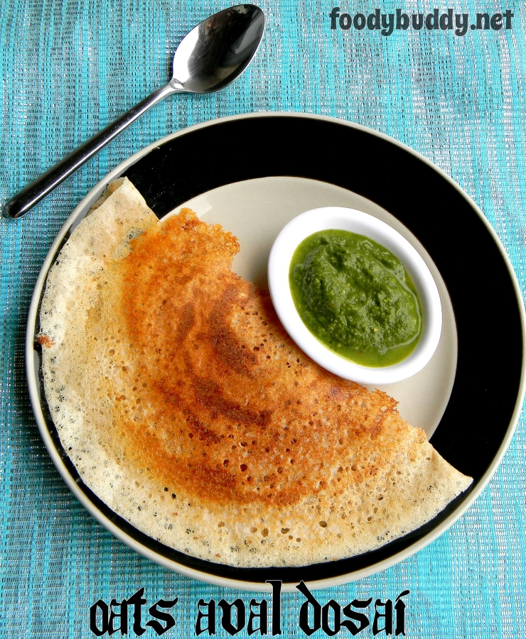 Oats Aval Dosa Recipe / South Indian Dosa