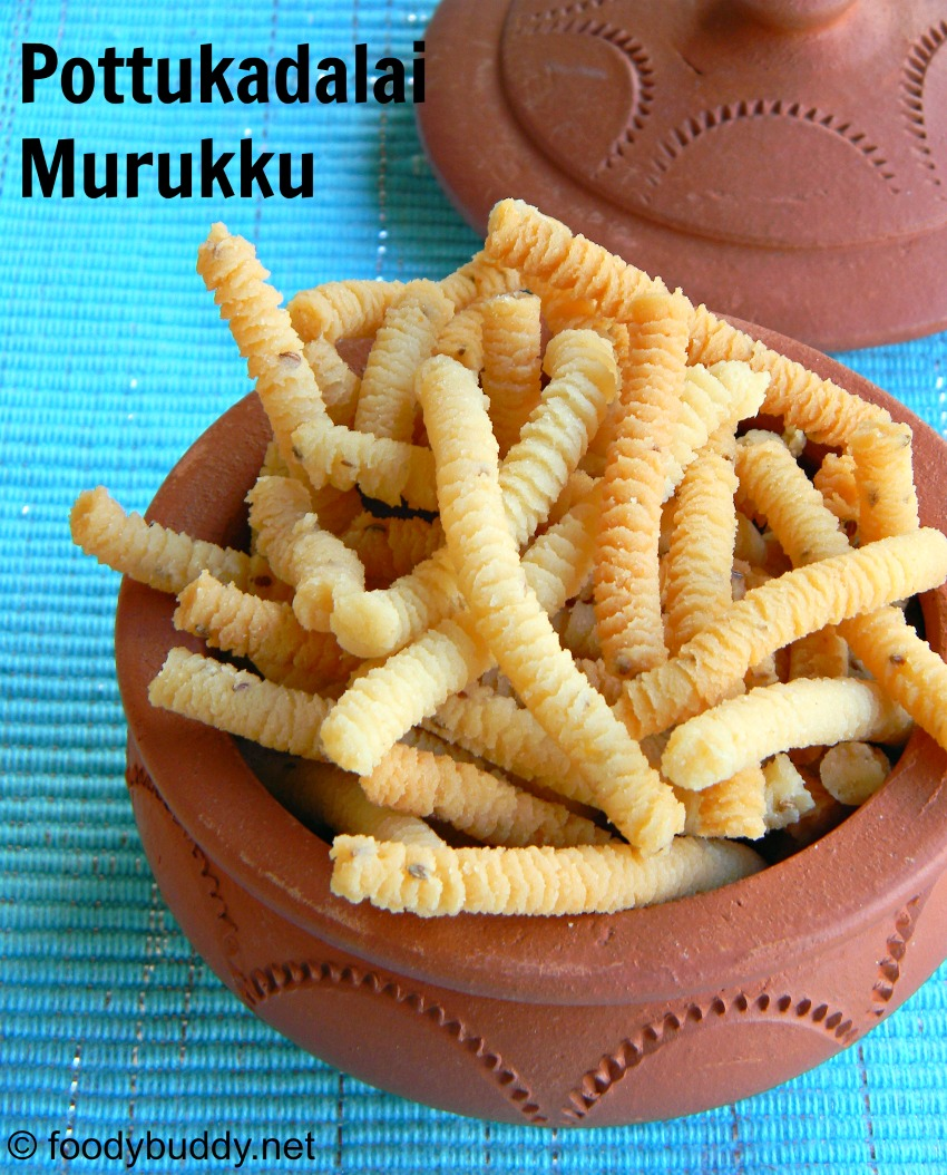 South Indian Pottukadalai Murukku / Roasted chana dal murukku recipe