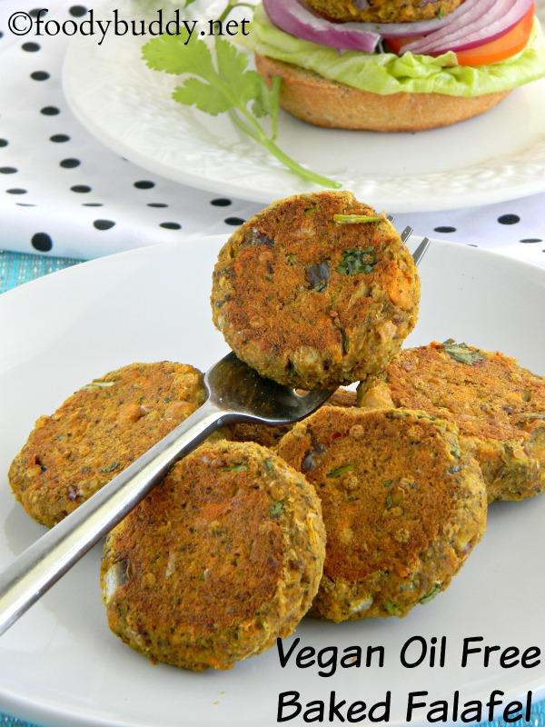 Baked Falafel Recipe / Vegan Oil Free Falafel