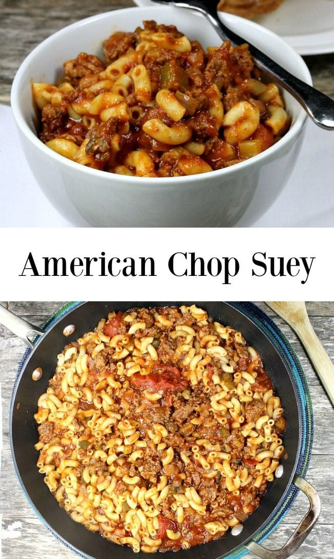 American Chop Suey – A wholesome family meal that features ground ...