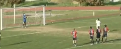 Vittorio Esposito deliberately misses a penalty after diving