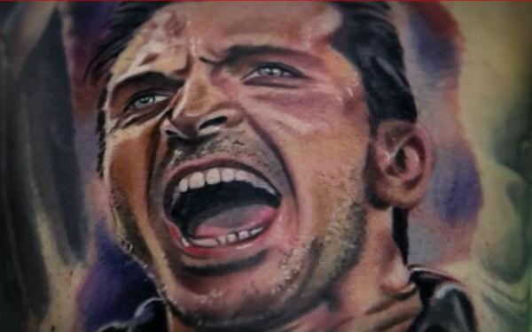 When one fan got this on his leg, Gianluigi Buffon got the fan's face tattooed on his arm