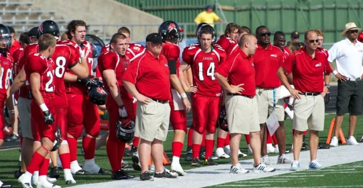Guebert on sidelines 2012 Austin TX