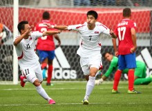 during the Costa Rica v Korea DPR: Group E - FIFA U-17 World Cup Chile 2015 match at Estadio Chinquihue on October 25, 2015 in Puerto Montt, Chile.