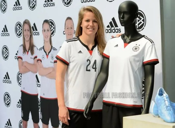 Germany 2015 Women's World Cup adidas Home Football Kit, Soccer Jersey ...
