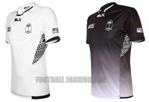 Fiji 2015 rugby world cup blk home and away kits football fashion