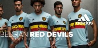 Belgium EURO 2016 adidas Away Kit